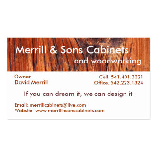 Woodworking Business Cards, 1,000 Business Card Templates