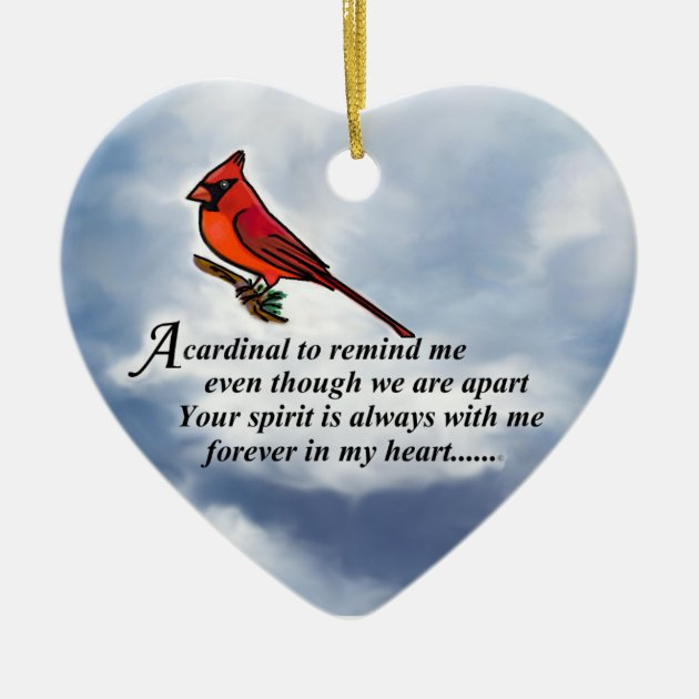 Cardinal Memorial Poem Ceramic Ornament Zazzleca