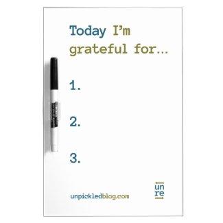 Daily Gratitude Board Dry-Erase Board