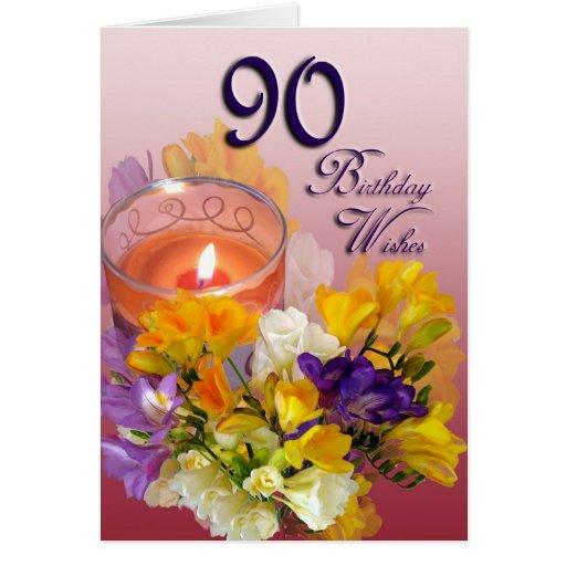 Birthday Greetings 90 Years Female Old