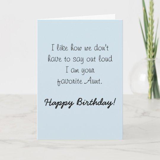 Happy Birthday Niece From Aunt Humour Funny Card Zazzle Ca