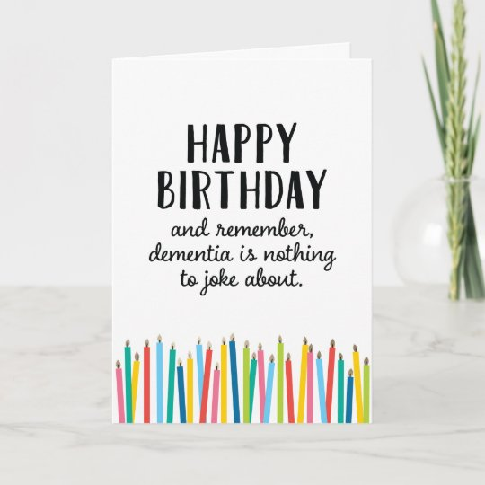 Happy Birthday Old Timer Candles Greeting Card Zazzle Ca