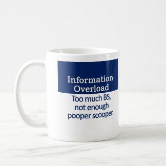 Information Overload Definition Basic White Mug