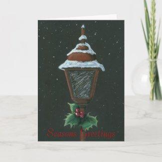 Lantern Christmas Card card