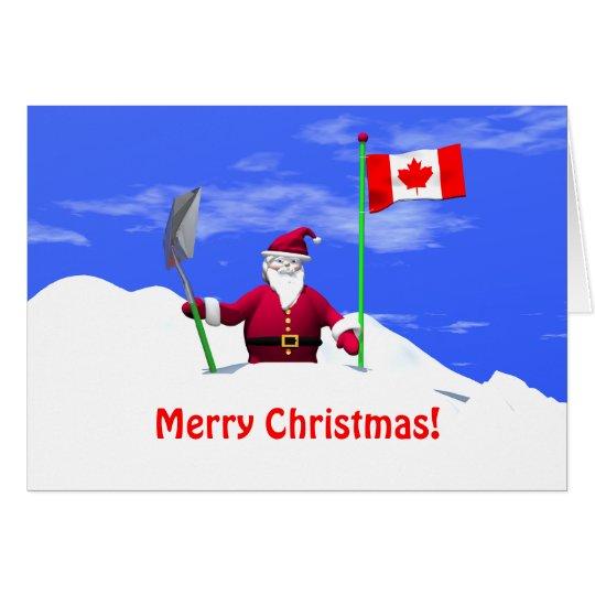 Merry Christmas Santa In Canada Card Zazzleca