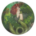 Red Haired Mermaid Plate