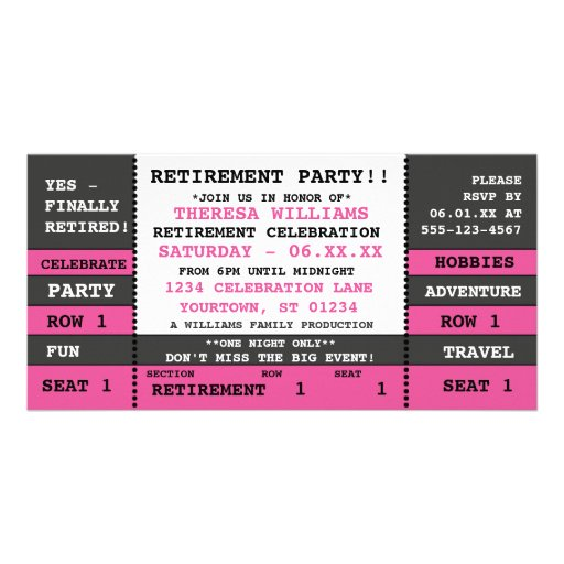 Party Tickets Templates 80th birthday party raffle ticket – Party Tickets Templates