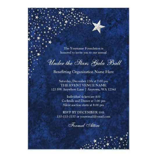 Navy Blue Wedding Shower Invitations