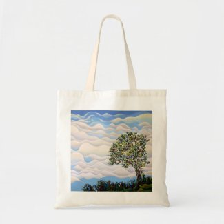 Westward Yearning Tree Budget Tote Bag