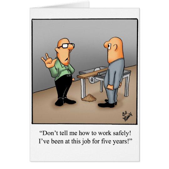 Work Safety Greeting Card Humour Blank Zazzleca