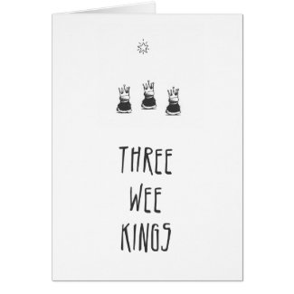 Three Wee Kings Christmas Card