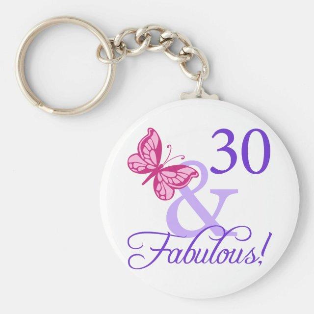 30 And Fabulous Birthday Keyring