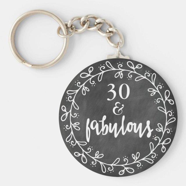 30 & Fabulous Keychain