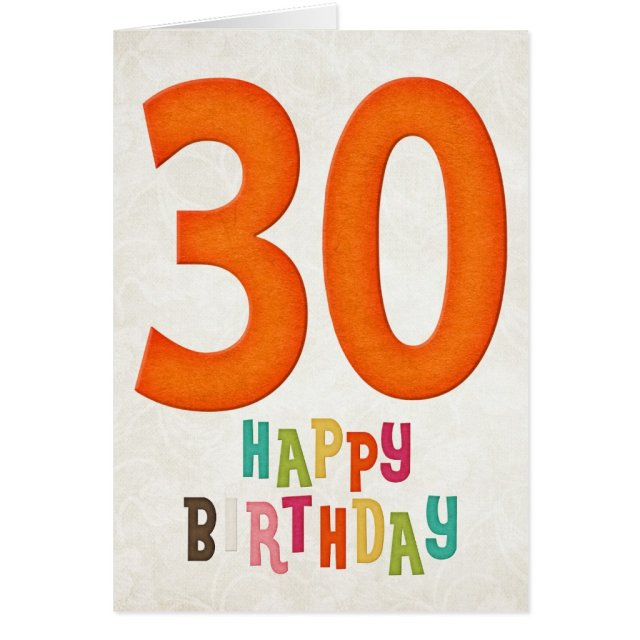 30th Birthday Happy Birthday Card Design