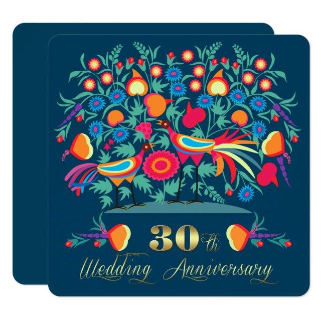 30th Wedding Anniversary Party Invitations