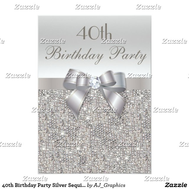 40th Birthday Party Card