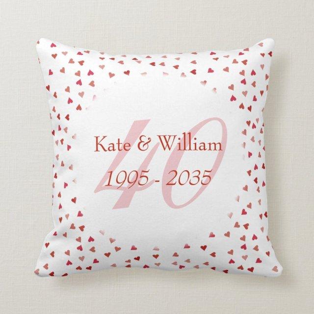 40th Wedding Anniversary Cushion
