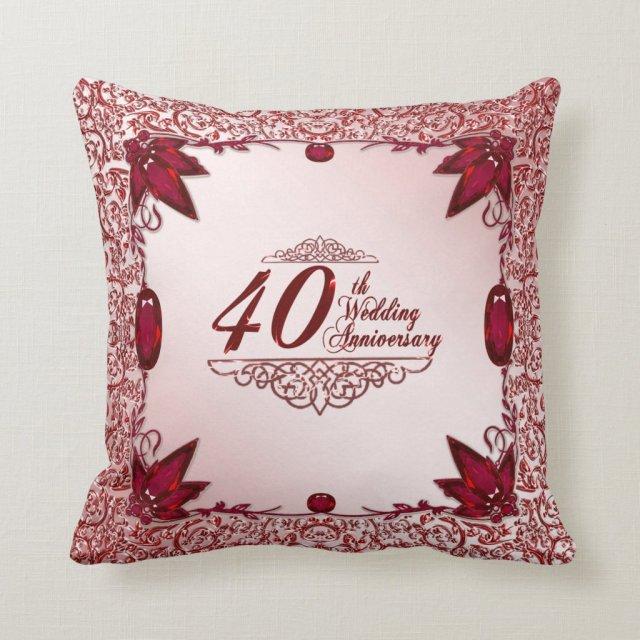 40th Wedding Anniversary Pillow
