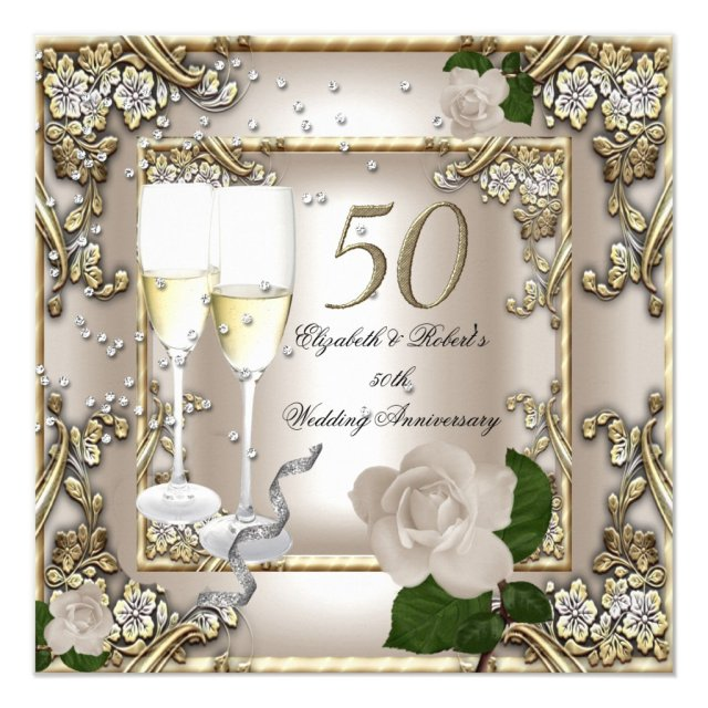 50th Anniversary Wedding Card