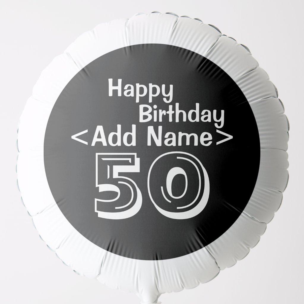 50th Birthday Personalised Balloon