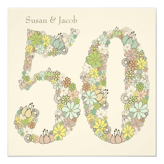 50th Wedding Anniversary Custom Invitation