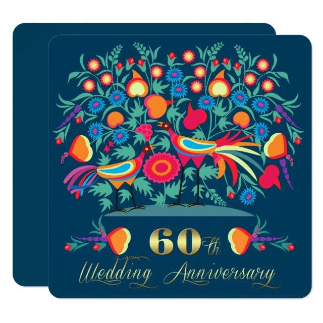 60th Wedding Anniversary Party Invitations
