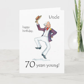 70th Birthday Card for an Uncle