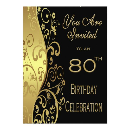 Personalised 80th birthday invitations uk dulahotw 80th birthday party personalised invitation 13th birthday invitations announcements zazzle co uk filmwisefo