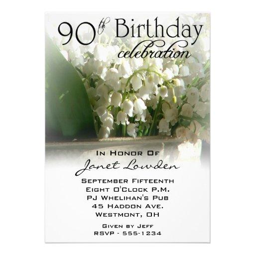 90th Birthday Invitations Party Invitation Template