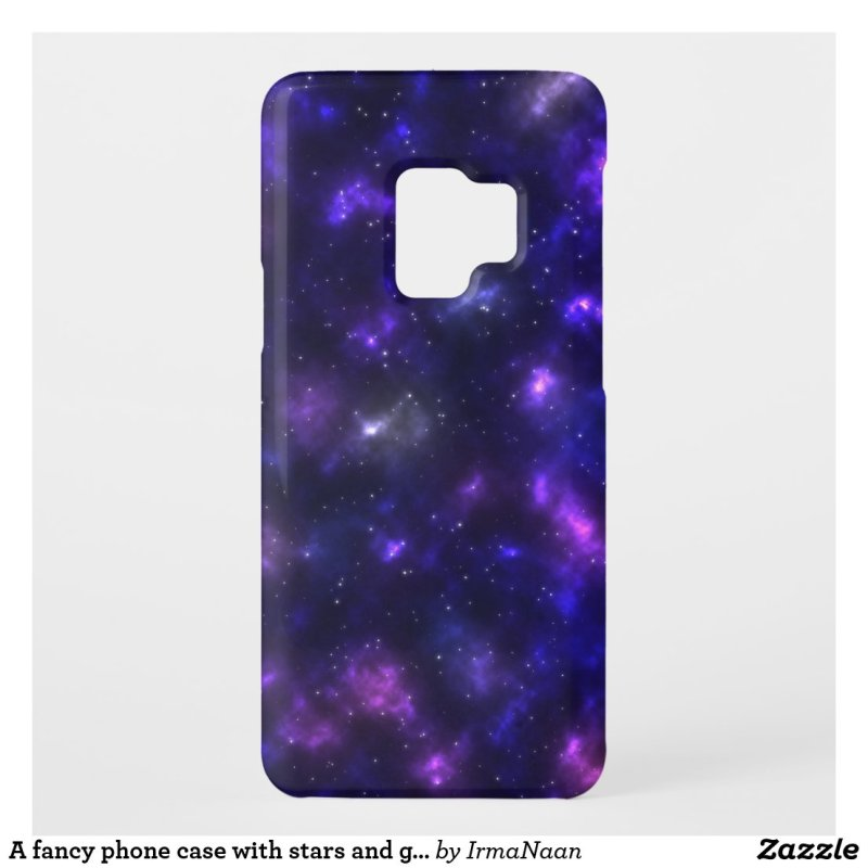 A fancy phone case with stars and galaxies