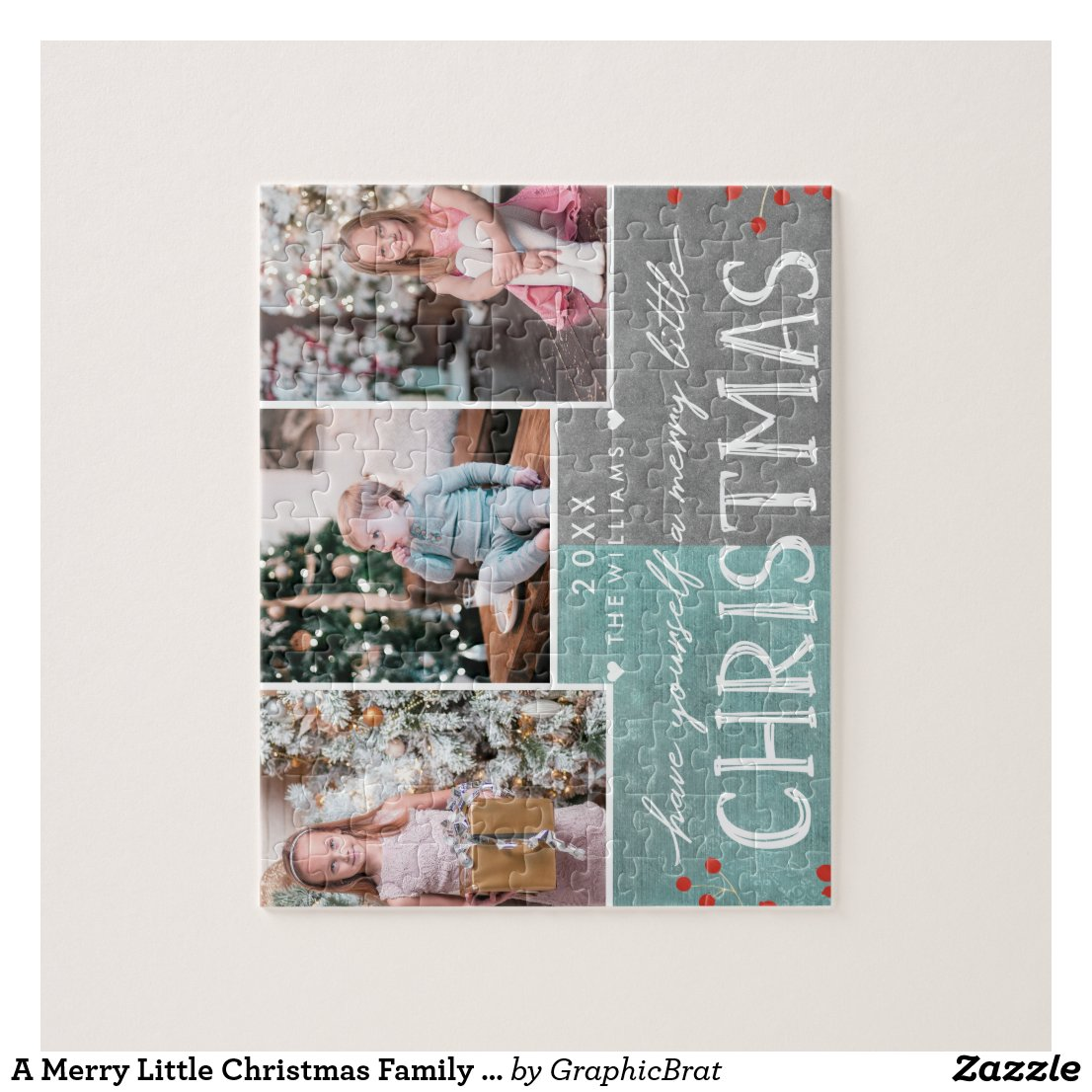 A Merry Little Christmas Family Puzzle