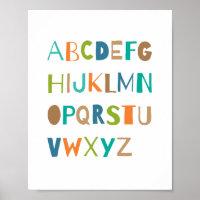 ABC Colorful Alphabet Nursery Art Decor