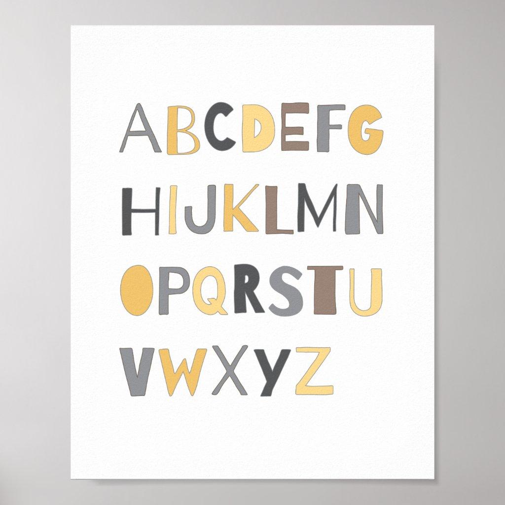 ABC Alphabet Nursery Art Decor