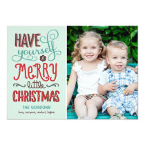 Adorable Type Christmas Photo Card