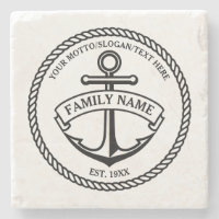 Anchor and Rope Stone Coaster