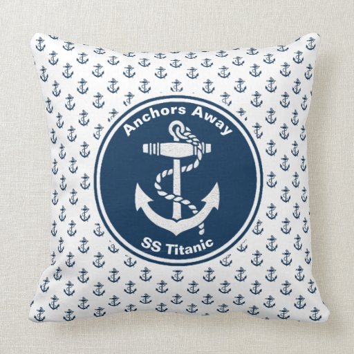 Anchors Away Nautical Cushion