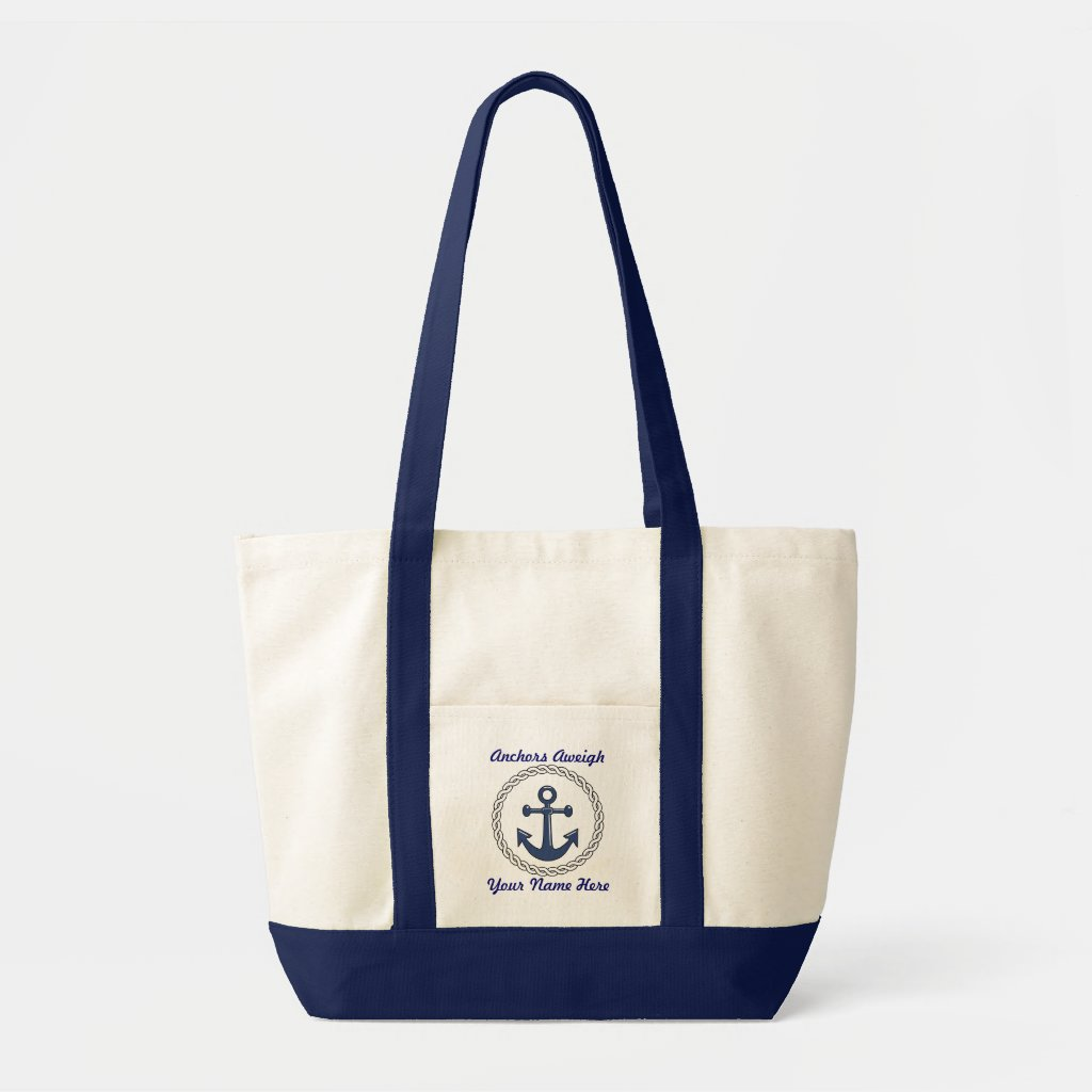 Anchors Aweigh Personalised Cruise Tote Bag