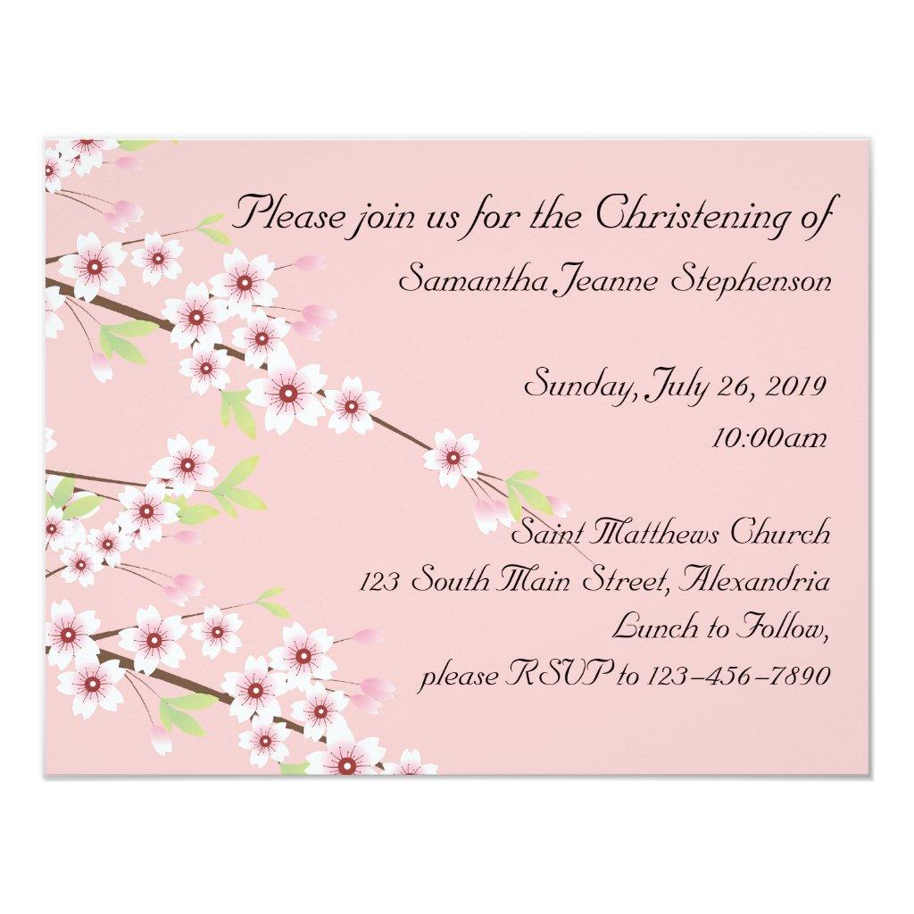 Baby Christening Invitation