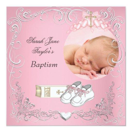 Baby Baptism Invitation Card