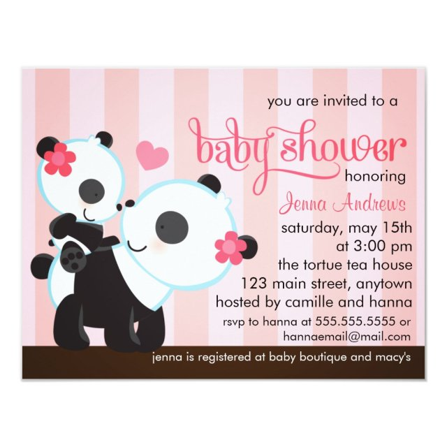 Baby Girl Cute Panda Baby Shower