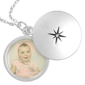 Baby Photo Silver Plated Necklace