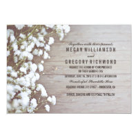 Baby's Breath Rustic Wedding Card