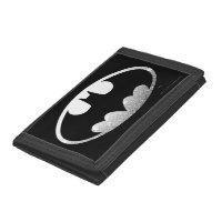 Batman Symbol   Grainy Logo Tri-fold Wallets