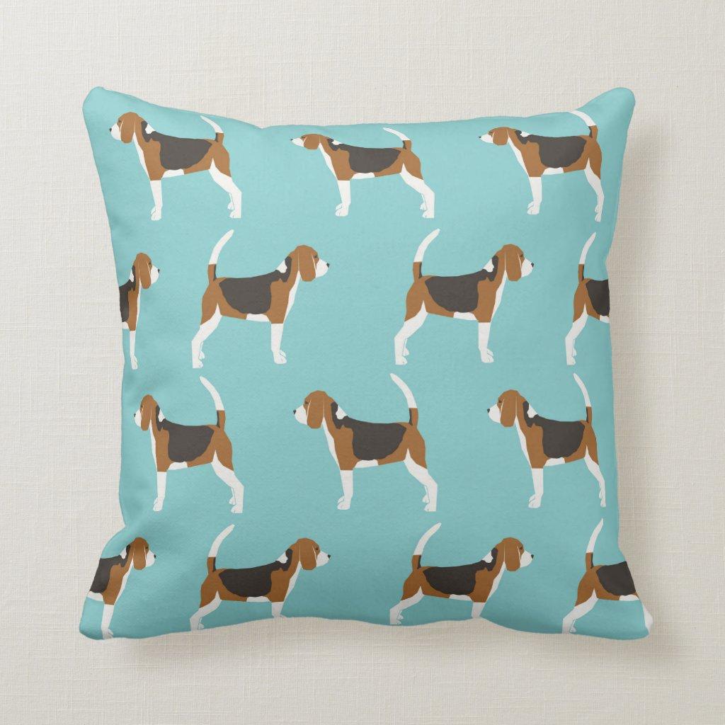 Beagle dog pillow