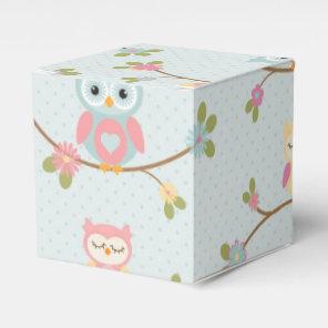 Beautiful Baby Owl Pattern Favour Box