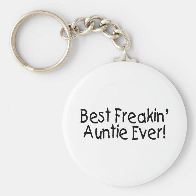 Best Freakin Auntie Ever Keyring