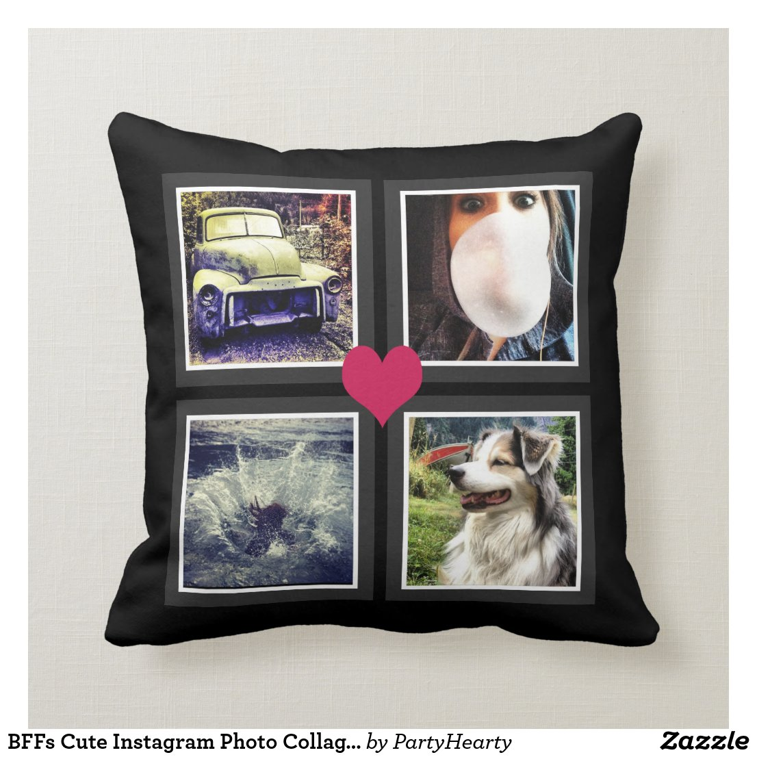 BFFs Photo Cushion