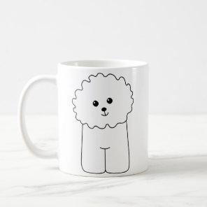 Bichon Frise, Cute Dog. Coffee Mug