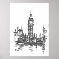 Big Ben London Print