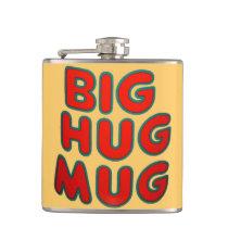Big Hug Coffee Mug Whiskey Hip Flask